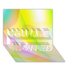 New 5 You Are Invited 3d Greeting Card (7x5)  by timelessartoncanvas