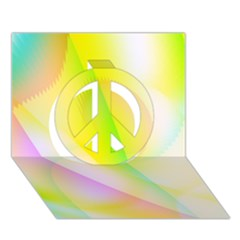 New 5 Peace Sign 3d Greeting Card (7x5)  by timelessartoncanvas