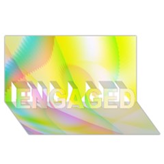 New 5 Engaged 3d Greeting Card (8x4)  by timelessartoncanvas
