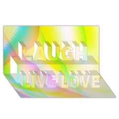New 5 Laugh Live Love 3d Greeting Card (8x4)  by timelessartoncanvas
