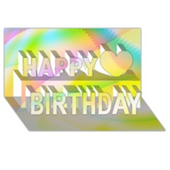 New 6 Happy Birthday 3d Greeting Card (8x4)  by timelessartoncanvas
