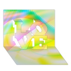 New 6 Love 3d Greeting Card (7x5)  by timelessartoncanvas