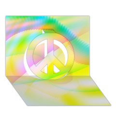 New 6 Peace Sign 3d Greeting Card (7x5)  by timelessartoncanvas