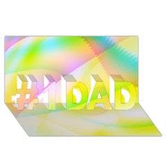 New 6 #1 Dad 3d Greeting Card (8x4)  by timelessartoncanvas