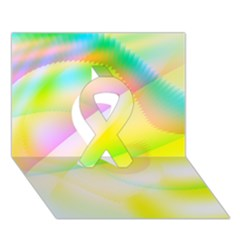 New 6 Ribbon 3d Greeting Card (7x5)  by timelessartoncanvas