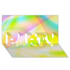 New 6 Party 3d Greeting Card (8x4)  by timelessartoncanvas