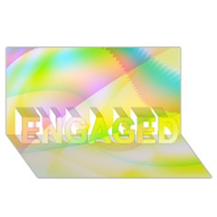 New 6 Engaged 3d Greeting Card (8x4)  by timelessartoncanvas