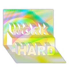 New 6 Work Hard 3d Greeting Card (7x5)  by timelessartoncanvas