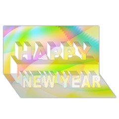 New 6 Happy New Year 3d Greeting Card (8x4)  by timelessartoncanvas