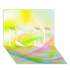 New 7 I Love You 3d Greeting Card (7x5)  by timelessartoncanvas