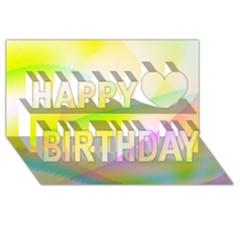 New 7 Happy Birthday 3d Greeting Card (8x4)  by timelessartoncanvas