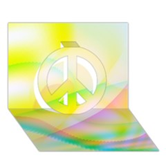 New 7 Peace Sign 3d Greeting Card (7x5)  by timelessartoncanvas
