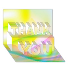 New 7 Thank You 3d Greeting Card (7x5)  by timelessartoncanvas