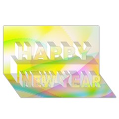 New 7 Happy New Year 3d Greeting Card (8x4)  by timelessartoncanvas