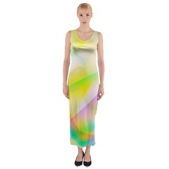 New 7 Fitted Maxi Dress by timelessartoncanvas
