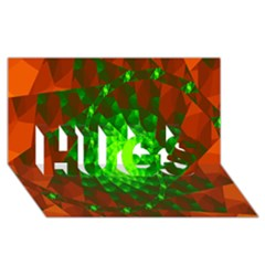 New 10 Hugs 3d Greeting Card (8x4)  by timelessartoncanvas