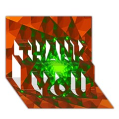 New 10 Thank You 3d Greeting Card (7x5)  by timelessartoncanvas