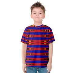 Bright Blue Red Yellow Mod Abstract Kid s Cotton Tee