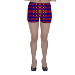 Bright Blue Red Yellow Mod Abstract Skinny Shorts