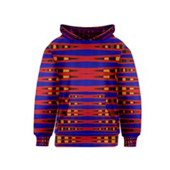 Bright Blue Red Yellow Mod Abstract Kids  Pullover Hoodie