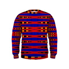 Bright Blue Red Yellow Mod Abstract Kids  Sweatshirt