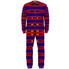 Bright Blue Red Yellow Mod Abstract Onepiece Jumpsuit (men)