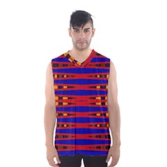 Bright Blue Red Yellow Mod Abstract Men s Basketball Tank Top