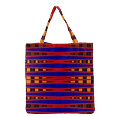 Bright Blue Red Yellow Mod Abstract Grocery Tote Bag