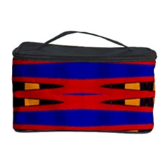 Bright Blue Red Yellow Mod Abstract Cosmetic Storage Cases by BrightVibesDesign