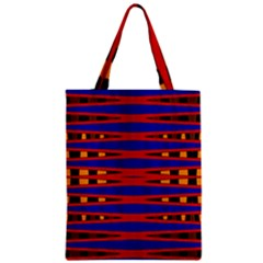 Bright Blue Red Yellow Mod Abstract Zipper Classic Tote Bag