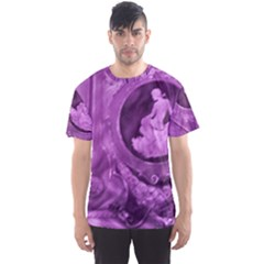 Vintage Purple Lady Cameo Men s Sport Mesh Tee by BrightVibesDesign