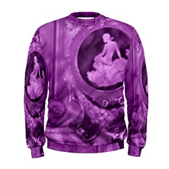 Vintage Purple Lady Cameo Men s Sweatshirt by BrightVibesDesign