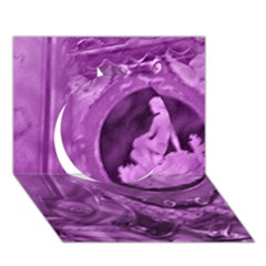 Vintage Purple Lady Cameo Circle 3d Greeting Card (7x5)  by BrightVibesDesign