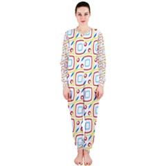 Squares Rhombus And Circles Pattern  Onepiece Jumpsuit (ladies) by LalyLauraFLM