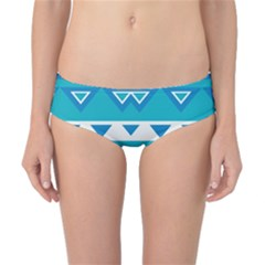 Blue Triangles And Stripes  Classic Bikini Bottoms by LalyLauraFLM