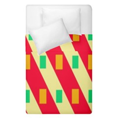 Squares And Stripes     Duvet Cover (single Size) by LalyLauraFLM