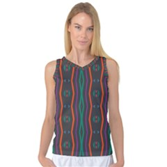 Wavy Chains Pattern     Women s Basketball Tank Top by LalyLauraFLM