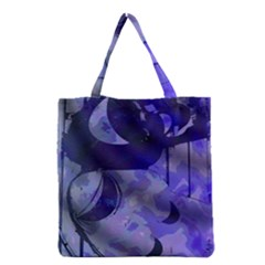 Blue Theater Drama Comedy Masks Grocery Tote Bag
