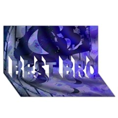 Blue Theater Drama Comedy Masks BEST BRO 3D Greeting Card (8x4)