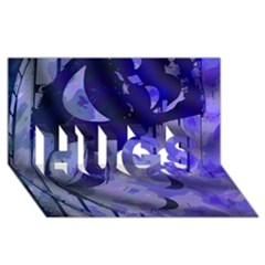 Blue Theater Drama Comedy Masks HUGS 3D Greeting Card (8x4)