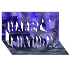 Blue Comedy Drama Theater Masks Happy Birthday 3d Greeting Card (8x4)  by BrightVibesDesign