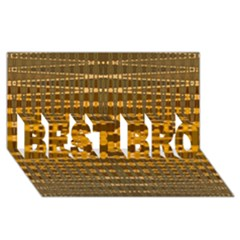 Yellow Gold Khaki Glow Pattern Best Bro 3d Greeting Card (8x4)  by BrightVibesDesign