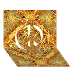 Digital Abstract Geometric Collage Peace Sign 3d Greeting Card (7x5)
