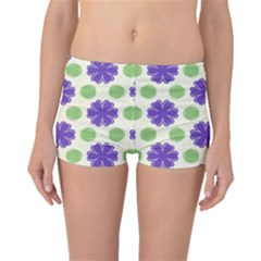 Purple Flowers Pattern        Boyleg Bikini Bottoms by LalyLauraFLM