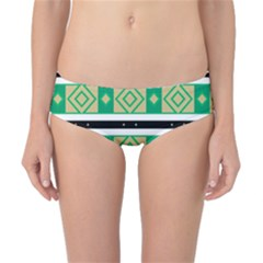 Green Rhombus And Stripes           Classic Bikini Bottoms by LalyLauraFLM