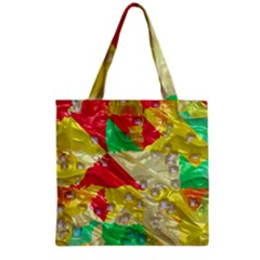 Colorful 3d Texture   Grocery Tote Bag by LalyLauraFLM