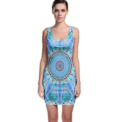 Sapphire Ice Flame, Light Bright Crystal Wheel Sleeveless Bodycon Dress by DianeClancy