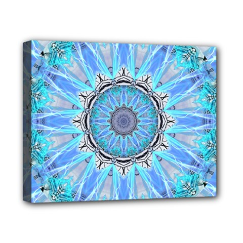 Sapphire Ice Flame, Light Bright Crystal Wheel Canvas 10  X 8  by DianeClancy