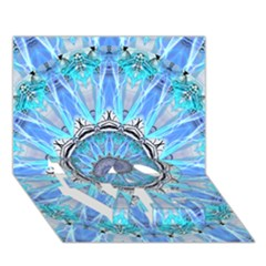 Sapphire Ice Flame, Light Bright Crystal Wheel Love Bottom 3d Greeting Card (7x5)  by DianeClancy