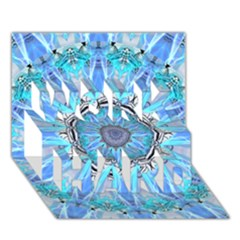 Sapphire Ice Flame, Light Bright Crystal Wheel Work Hard 3d Greeting Card (7x5)  by DianeClancy